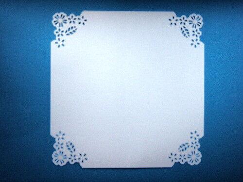 5 Wild Flower Corner Punch Card Squares Martha Stewart Tilda Ebay