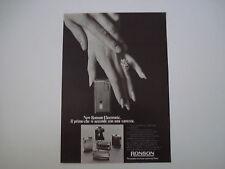 advertising Pubblicità 1973 ACCENDINO NEW RONSON ELECTRONIC