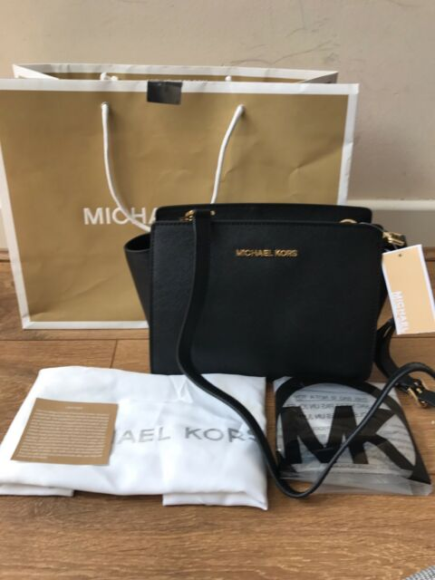 5genuine Michael Kors Selma Messenger Crossbody Bag Black Sales. for ... 06a06d98ed17c