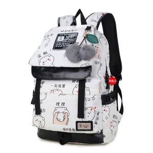 16aa98a7b7 Image is loading Canvas-Backpack-Teenage-Girls-School-School-Backpack-Bag-