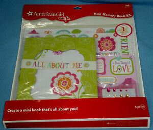 NIP American Girl Crafts Mini Memory Book Kit Stickers Gems 269 Pc Ages 8+