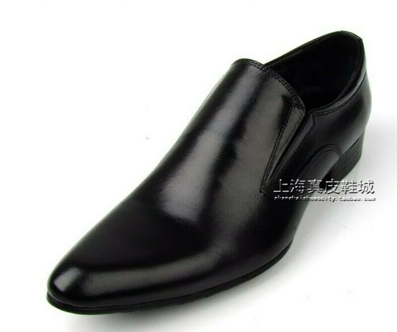 Mens Simple Pointed Pointed Pointed Toe Low Heel Slip On Loafers Business Leisure Casual scarpe 11787f