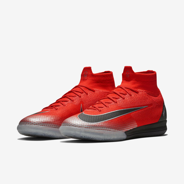 Nike Superfly 6 Elite CR7 IC Crimson Red AJ3571-600 sz 9 Indoor Soccer Cleats