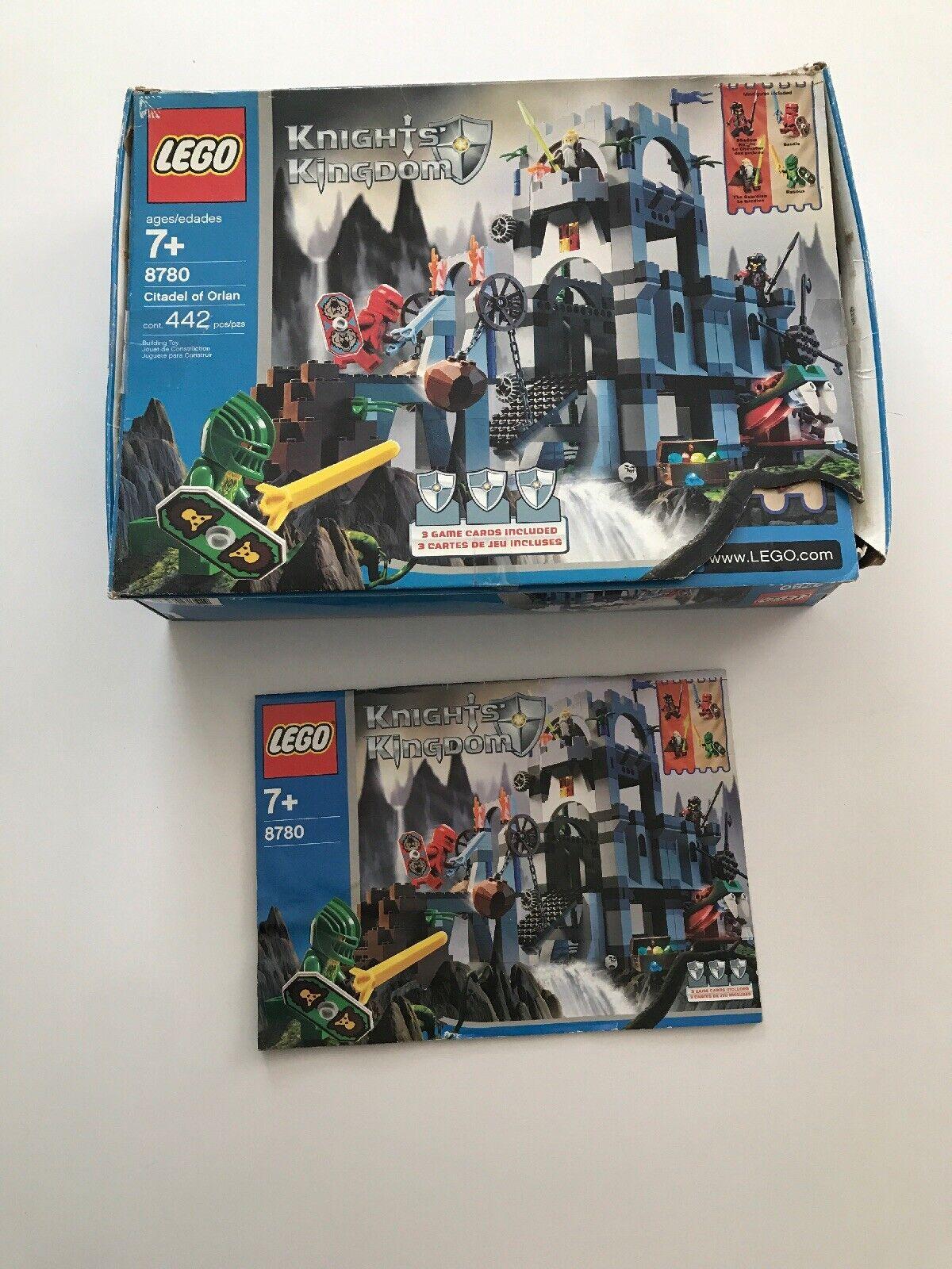 Vintage Juego De Lego 8780 Castillo Caballeros Reino ciudadela de Orlan Caja Instrucciones