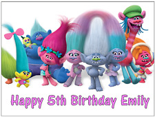 """Trolls Dreamworks Personalised Cake Topper Edible Wafer Paper A4 7.5"""" By 10"""""""