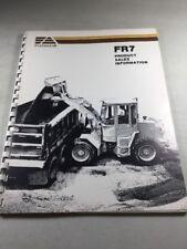 Fiat Allis Fr7 Wheel Loader Product Sales Information Manual