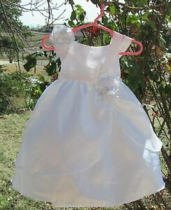 White-Baptism-Christening-Baby-Girl-dress-SIZE-18-Months