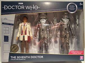 "Dr Who Silver Nemesis Cyberman Trooper /& Gun 5/"" Classic B/&M UK Exclusive Figure"