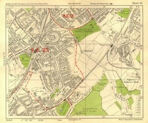 Map South East London.Details About South East London South Norwood Woodside Elmer S End Anerley Bacon 1928 Map