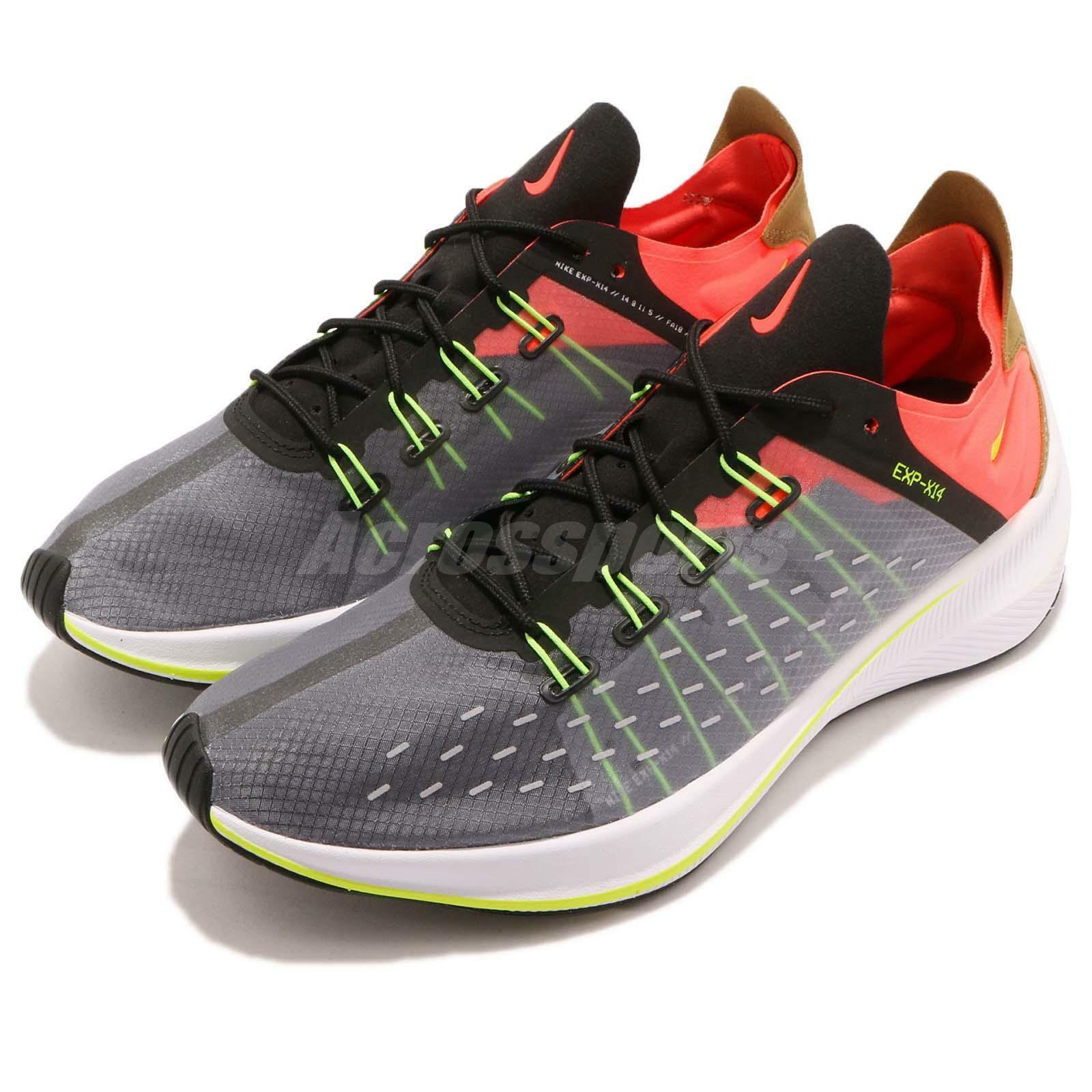 Nike EXP-X14 Total Crimson Black Volt REACT Mens Running shoes AO1554-001