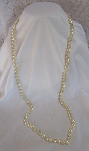 """Hermoso clásico de VIDRIO PERLADO Perla Collar 35/"""" Perlas de peso pesado Gran Regalo"""