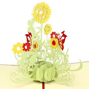 3d pop up greeting cards sunflower birthday mothers day anniversary image is loading 3d pop up greeting cards sunflower birthday mother m4hsunfo