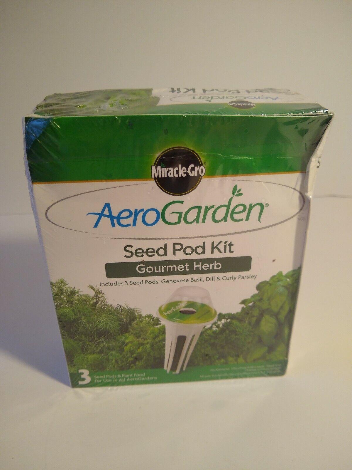 NEW Miracle-Gro Aero Garden Indoor Gardening Seed Pod Kit, Gourmet Herbs 1