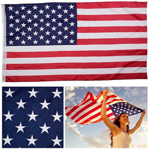 3'x5' Polyester US U.S FLAG USA American Stars Stripes United States Grommets