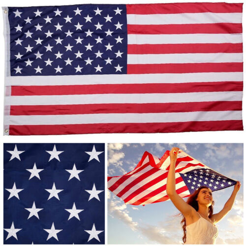US FLAG USA American Stars Stripes United States Grommets 3/'x 5/' FT Polyester