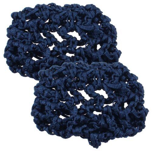 2 Stueck dunkelblau Elastische Band Netz Kauz Abdeckung Haarnnetze fuer Fra I5J5