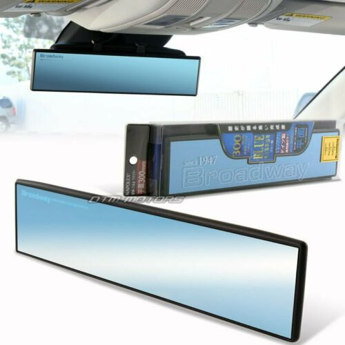 300mm Broadway Flat Blue Tinted Anti Glare Clip On Rear View Mirror For GMC JEEP