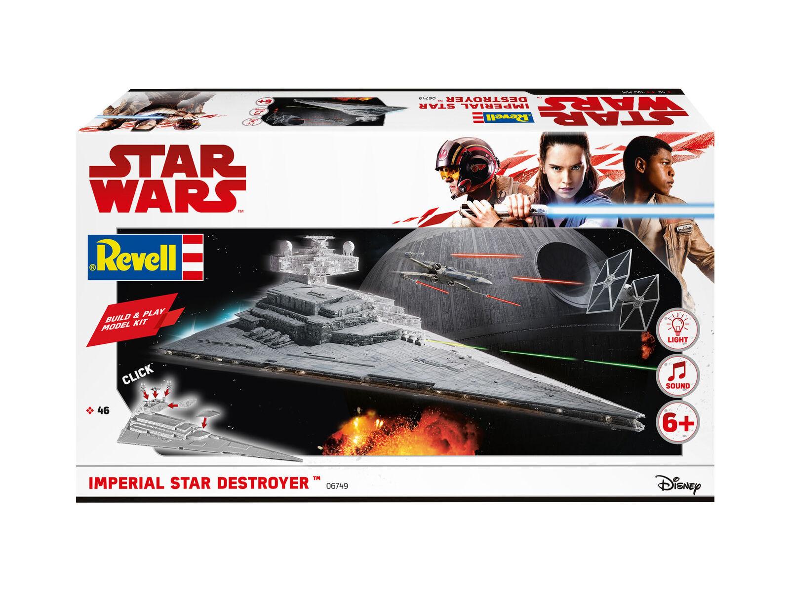 Build & Play  Imperial Star Star Star Destroyer  Star Wars Kit REVELL HOBBY 1 4000 RV06749 61b849