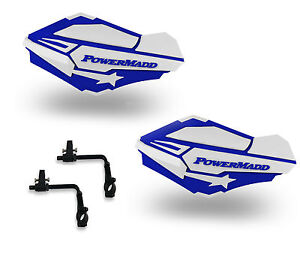 Powermadd Sentinel Handguards Guards Tri Mount Blue Black Utility ATV Kawasaki