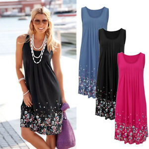 dd61627c8124 Image is loading Women-Summer-Casual-Sleeveless-Evening-Party-Cocktail -Beach-