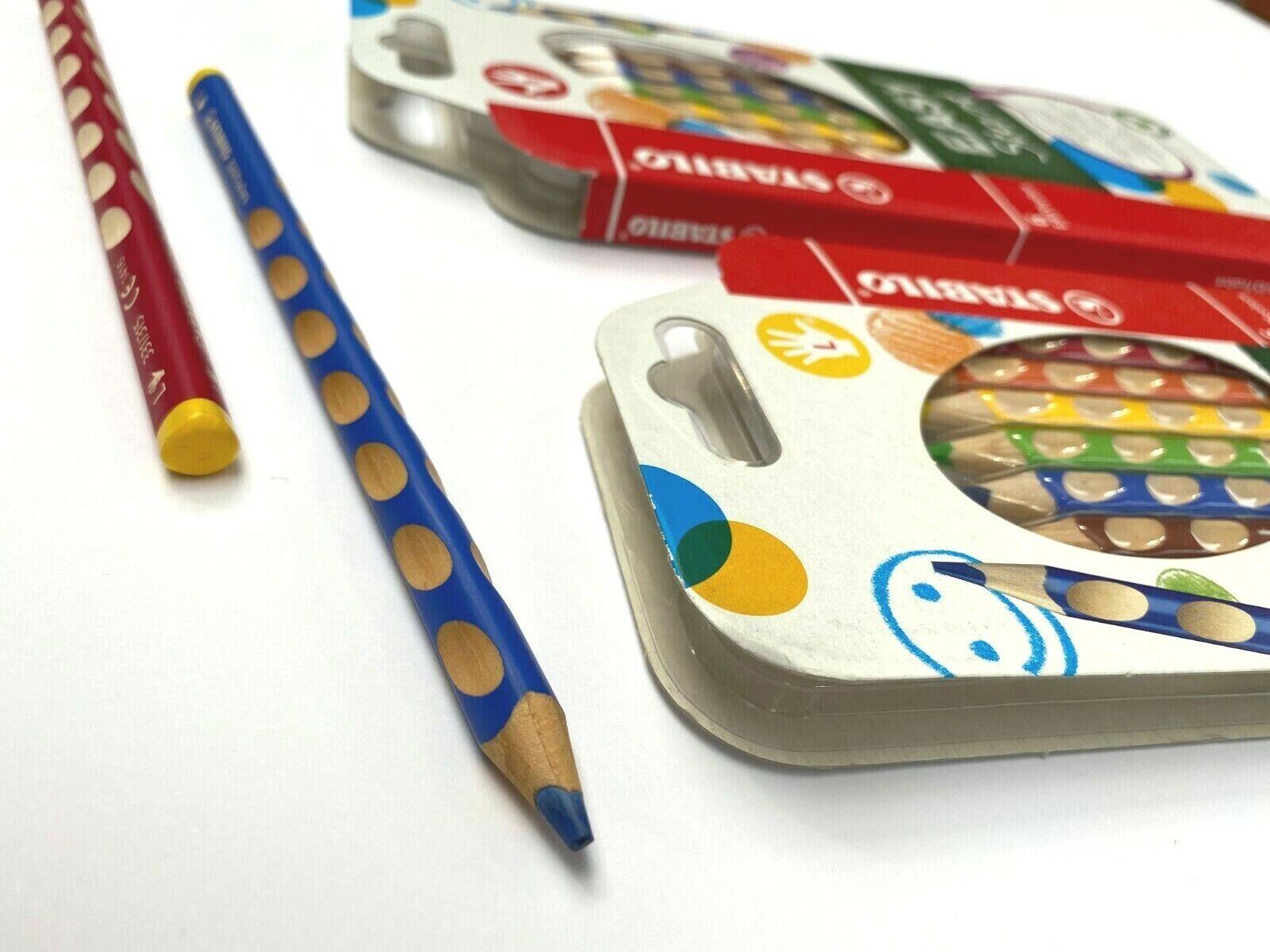STABILO EASYcolors 6er Pack Dreikant-Buntstifte Rechtshänder Malstifte 6 Farben