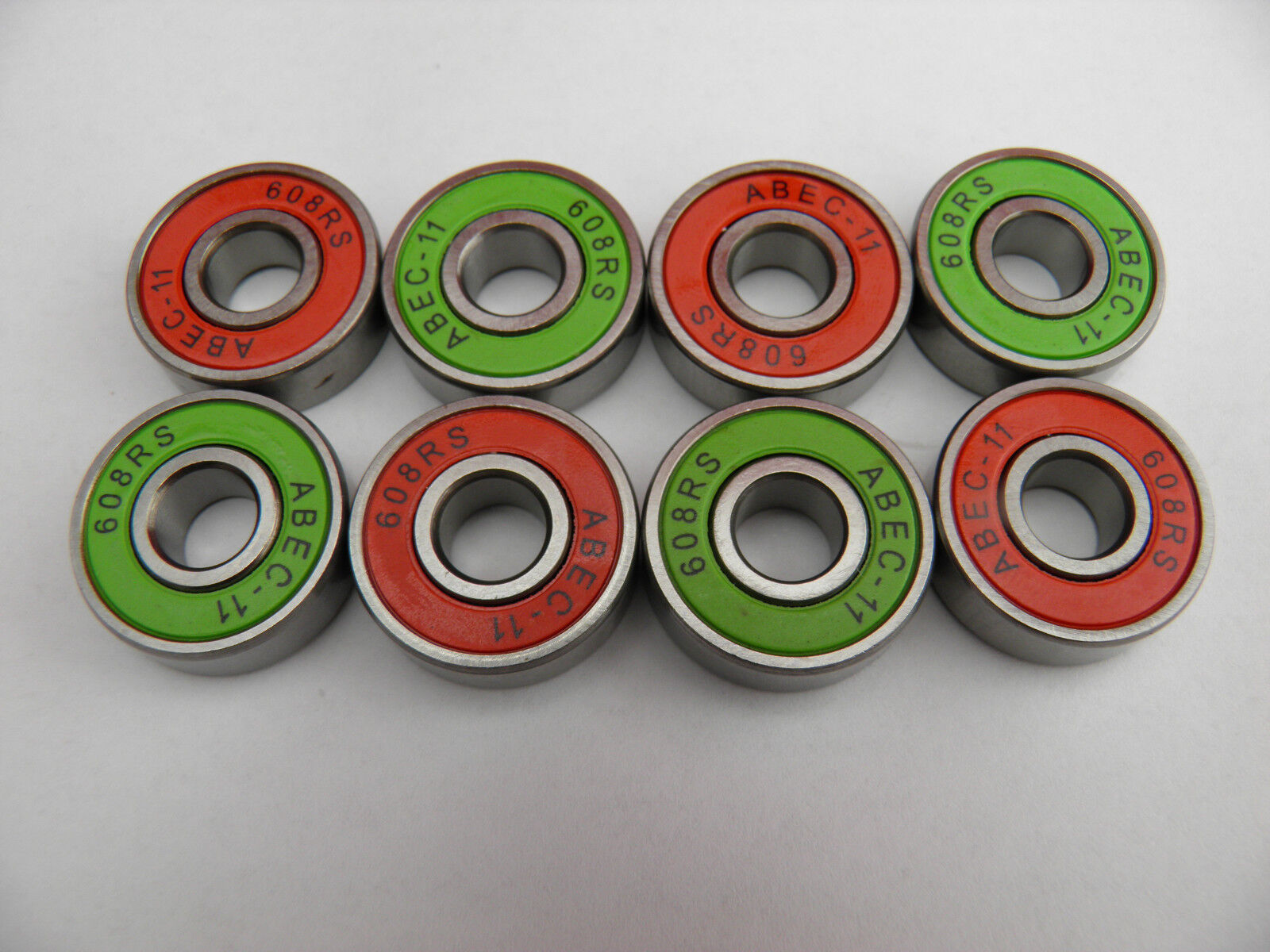 8Pcs 22x8x7mm ABEC-11 608 RS Bearing For Scooter Skate Skateboard Inline Roller
