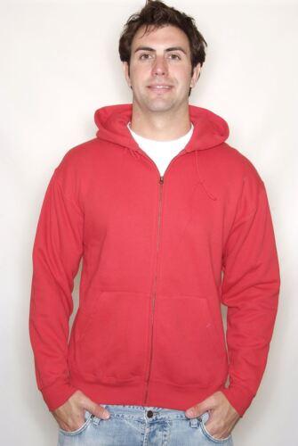 Fruit of the Loom Classic Zip Hooded Sweatshirt JACKET HOODIE ZIPPED NEW MEN/'S