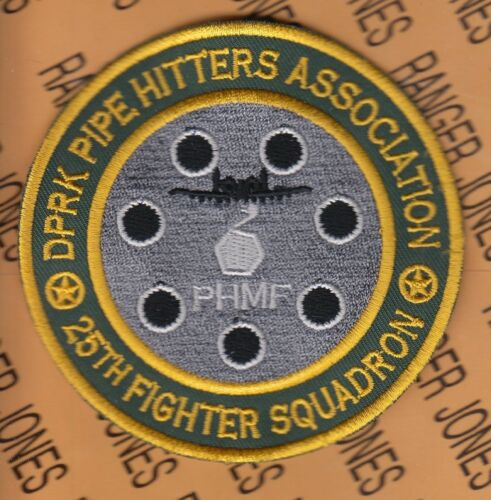 """USAF Air Force 25th Fighter Squadron FS DPRK Pipe Hitters 3.75/"""" patch"""