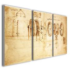 Stampe su tela Leonardo da vinci Hygrometer study quadri famosi ® quality