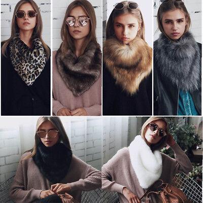 Luxury Triangle Scarf Faux Fur Warm Winter Collar Loop Fashion Neck Wrap 2017