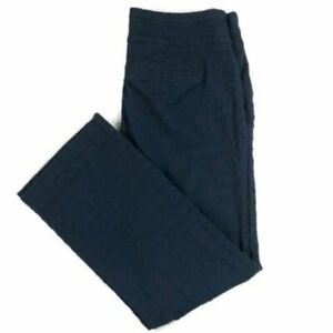 Anthropologie Cartonnier NEW WITH TAGS charlie crop flare pants in navy blue 12