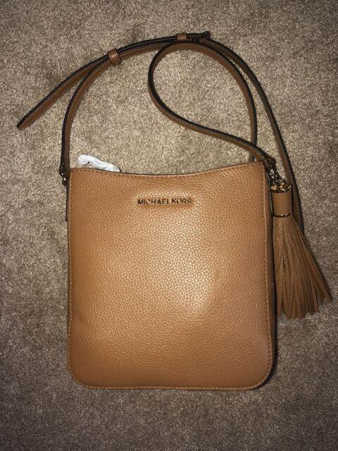 Michael Kors Leather Bedford Tassel Crossbody Bag in Acorn for sale ... c0987caef9e1e