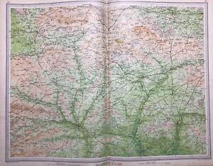 Salisbury 1939 Vintage Map Bartholomew England Large Winchester