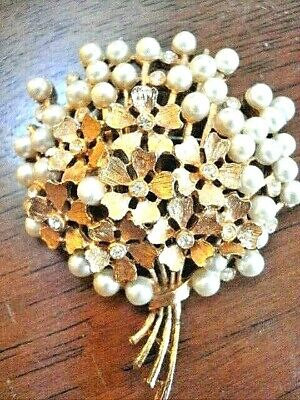 brooches for women vintage Frosted Two-tone Gold Leaf Pearl Corsage Korean Style Temperament All-match Accessory Accessories Brooch