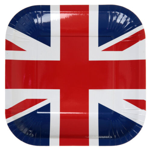 Länderdekoration Pappteller Party Teller Motiv England Deko
