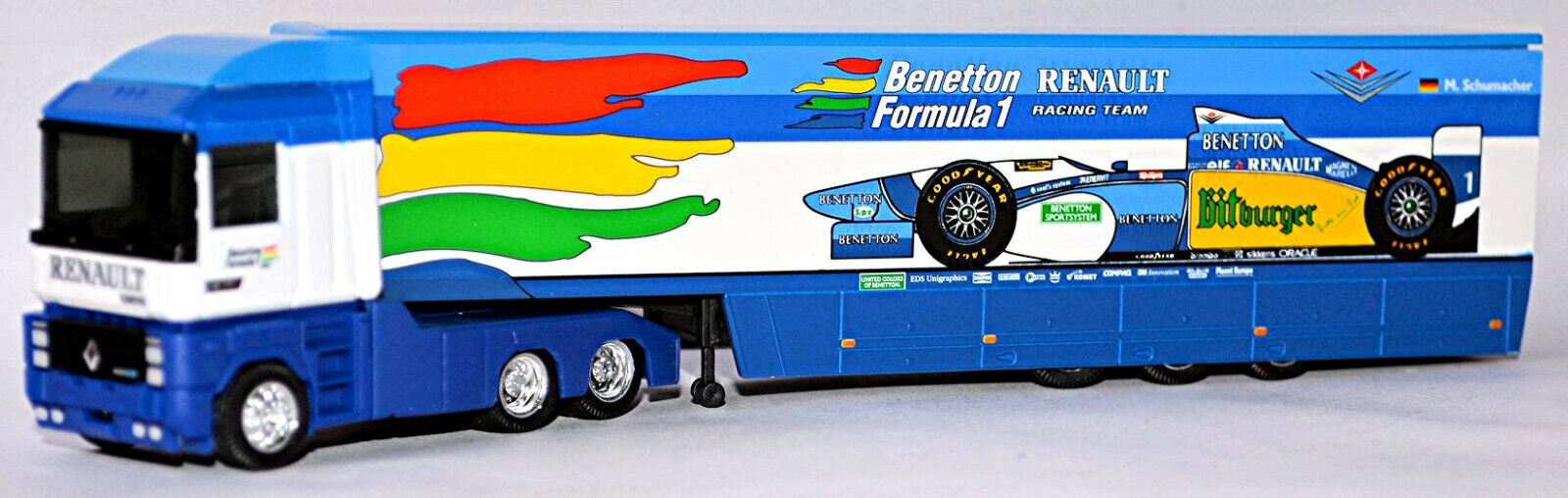 Renault Ae 500 Magnum Maleta-Sz Benetton Formula1 Bitburger 1 87 Albedo 220001