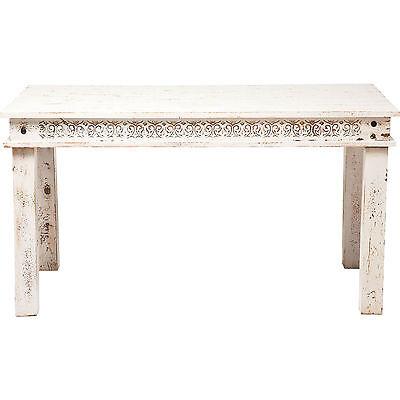 Tisch Esszimmertisch Holztisch 140x70cm Vintage Landhaus Weiß Neu KARE Design