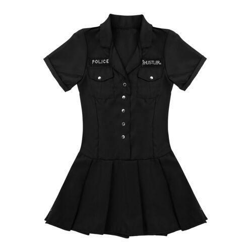 Police woman costume Role Play Flic Uniforme Plissée Mini Fancy Dress Party Outfit