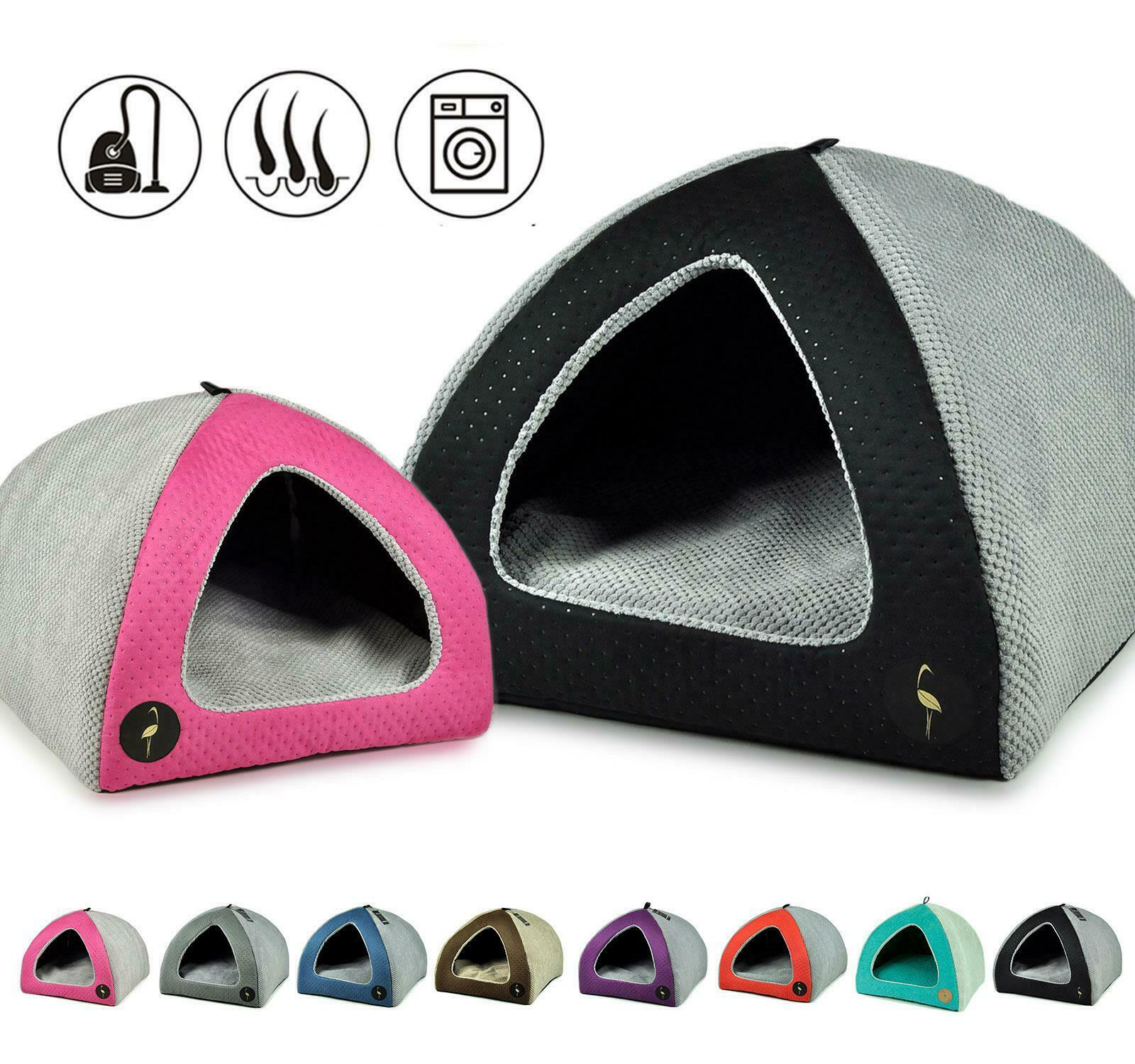 CatCentre® Handmade Luxury Pet Cat Puppy Dog Igloo Bed House Pyramid Sofa Cave