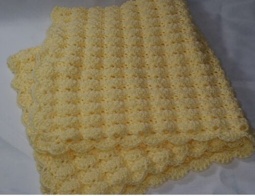 Puff Stitch Crochet Baby Blanket