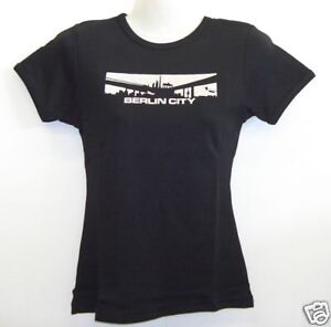 Girlie-T-Shirt-Berlin-City-Schwarz-S-XXL
