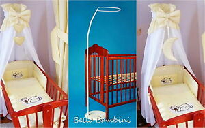 Image is loading CANOPY-drape-for-baby-swinging-crib-wicker-basket- & CANOPY drape for baby swinging crib/wicker basket/craddle+FLOOR ...