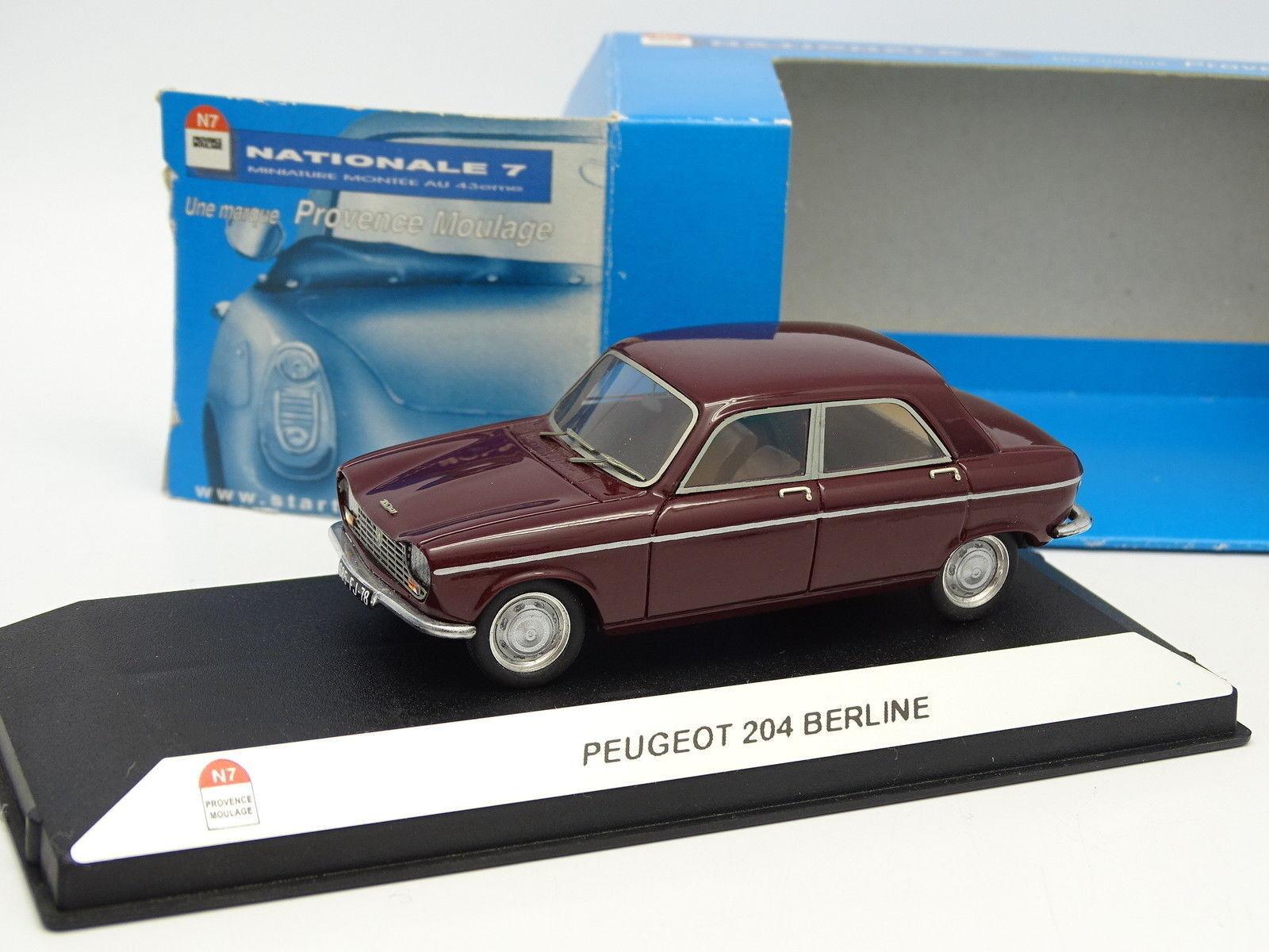 Starter N7 Provence Résine 1 43 - Peugeot 204 Berline Rouge