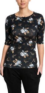 4 Rockabilly Oberteil 3 Arm Vintage Floral Maria Shirt Vive Piccadilly WPqnzY6xU