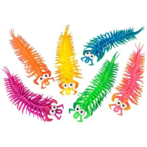 """1 DOZEN 11.0/"""" STRETCH BUG EYED TOY CENTIPEDE party favors insects animals"""