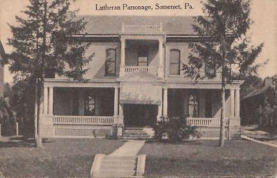 Postcard Lutheran Parsonage Somerset PA   eBay