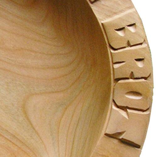 Ahorn 30-31 cm Holzteller Brotteller Unser täglich Brot gib uns heute Teller