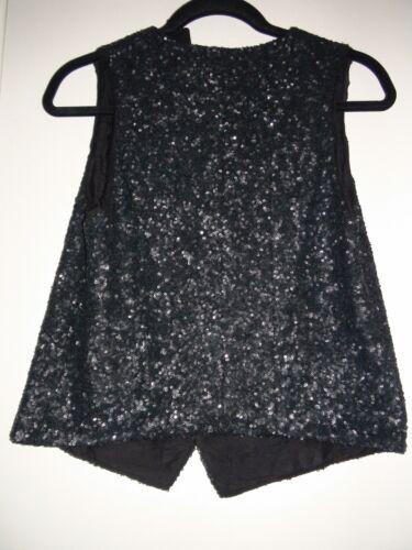 Noir 3607621235643 Sz Women's Zadig Black S Vest Sequin Emilie Nwt Voltaire Paillett amp; 520 68wqO8I