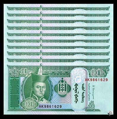 MONGOLIA 10 TUKRIK 2013 P 62 UNC
