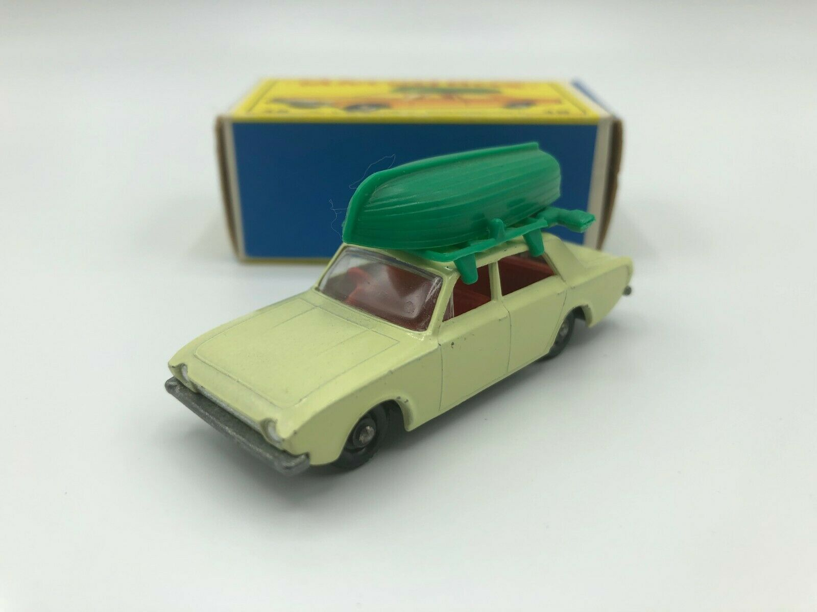 Matchbox Lesney Ford Corsair & Boat Near Mint In Original E4 Box